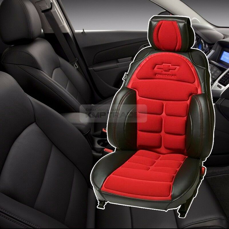 Bowtie Emblem Logo Bucket Seat Cushion Cover Red for ...