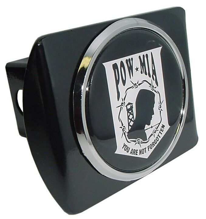 Pow Mia Black Trailer Hitch Cover High Quality Made In The