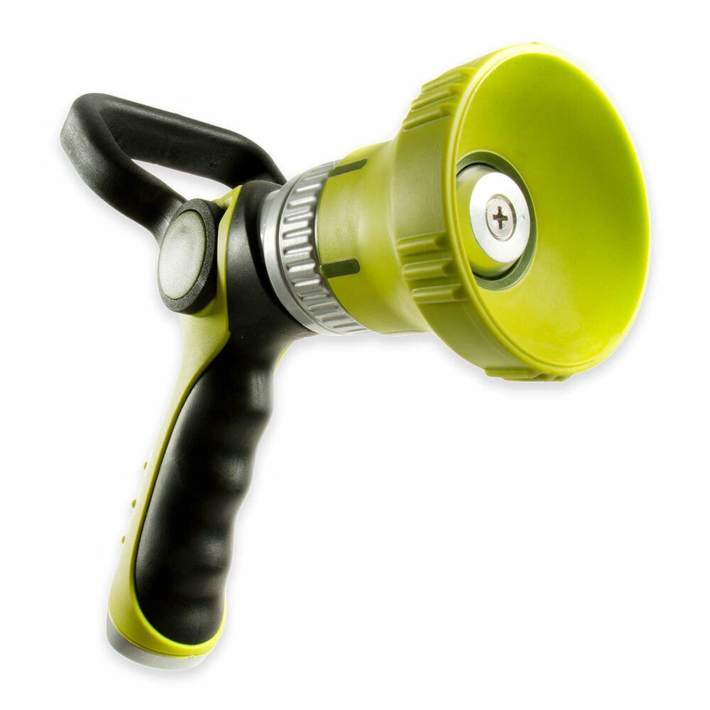 Fireman s spray hose nozzle high pressure flow adjustable