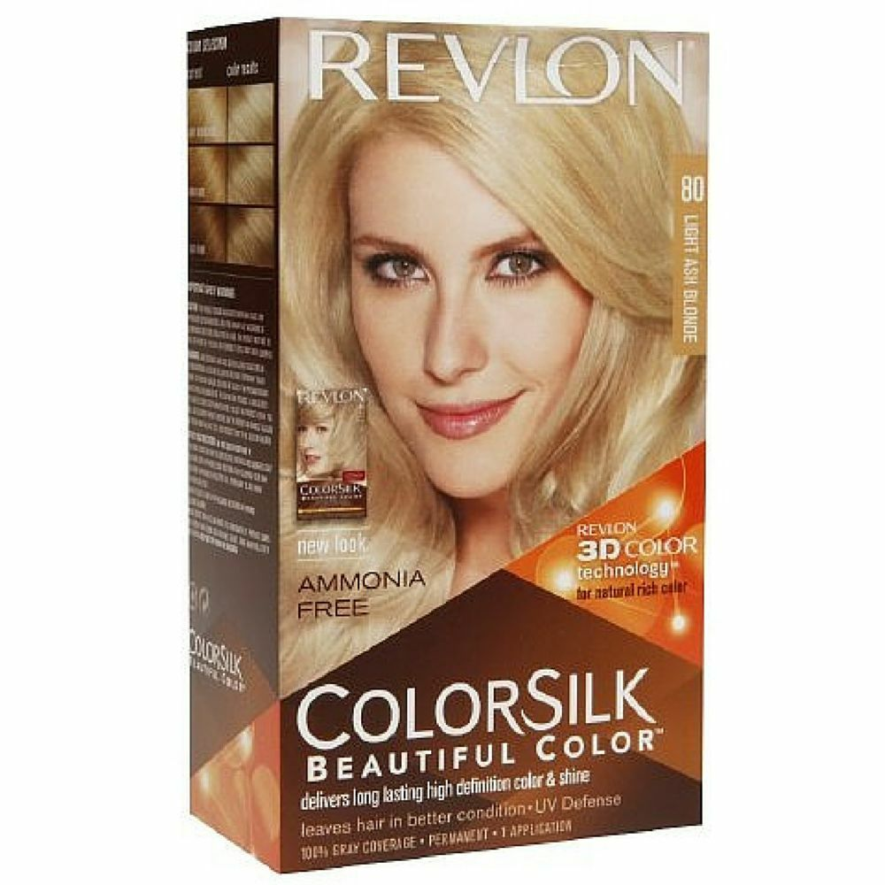 Revlon Colorsilk Hair Color 80 Light Ash Blonde 1 Each Ebay