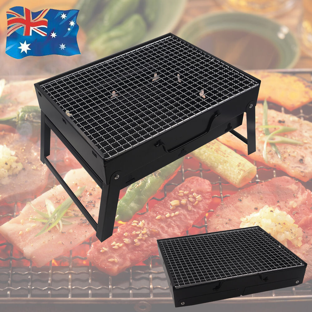 PORTABLE OUTDOOR CHARCOAL BARBEQUE JUST FOLD & GO BBQ GRILL PICNIC | eBay