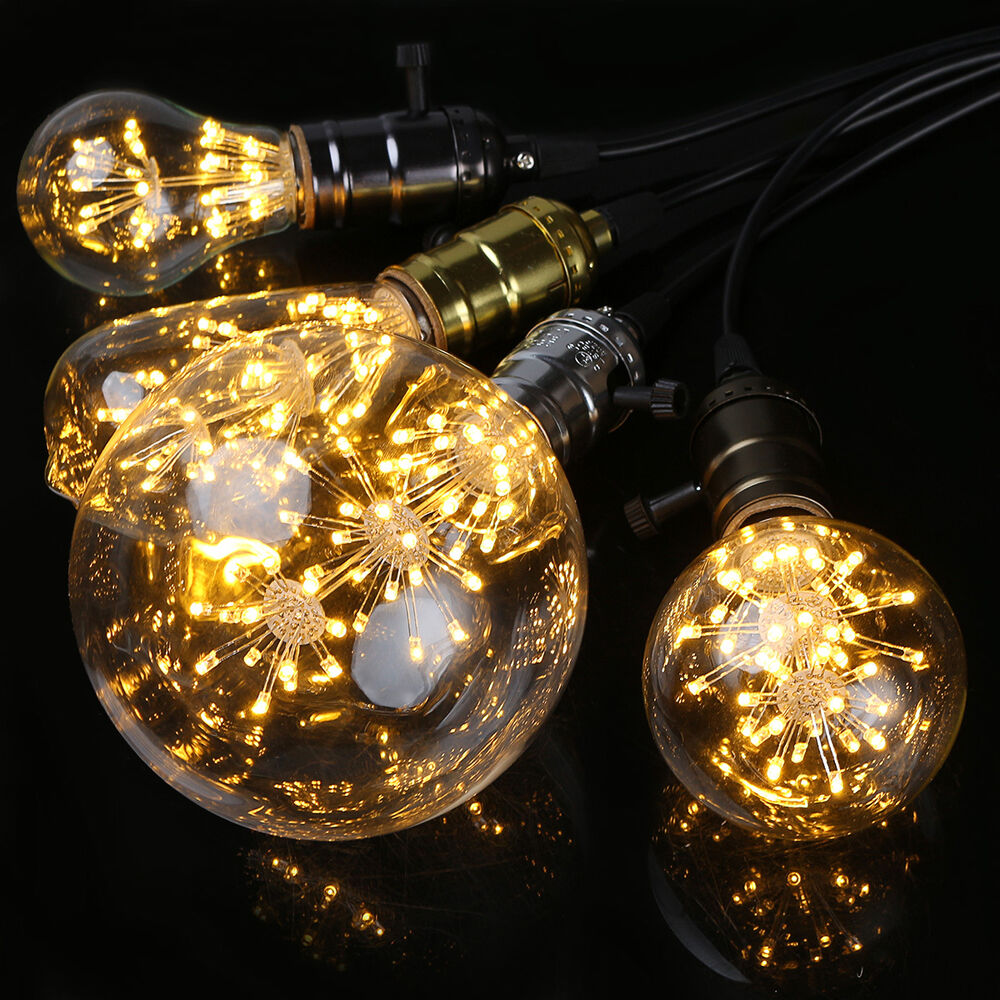star 3w edison bulb led filament retro firework industrial decorative light lamp ebay. Black Bedroom Furniture Sets. Home Design Ideas