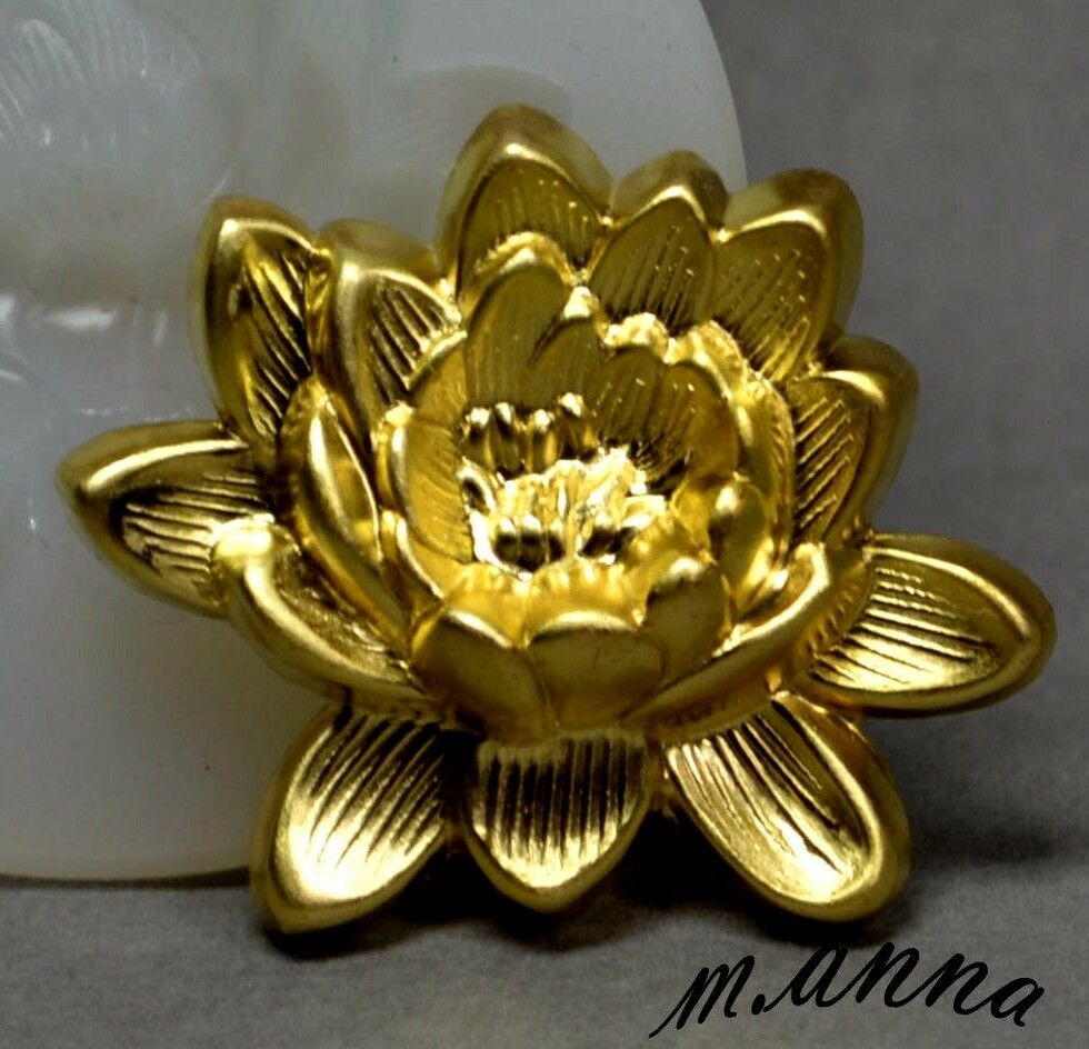 Lotus Flower Silicone Mold Cupcake Clay Resin Fondant Icing