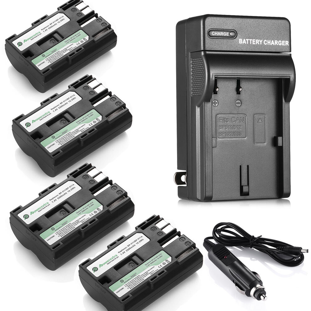 Bp 511 Bp 511a Battery 2200mah For Canon Eos 20d 30d 40d