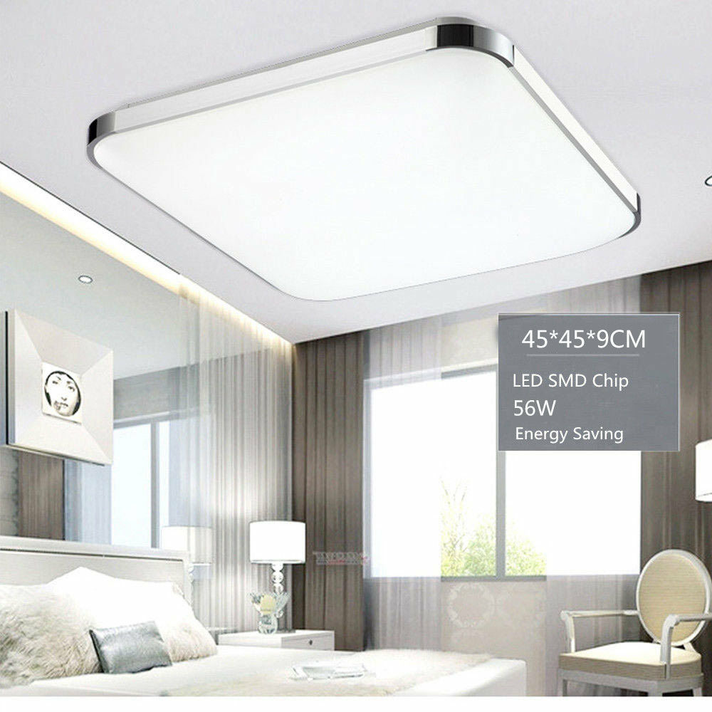 Modern Bedroom Square LED Ceiling Light 56W Living Room