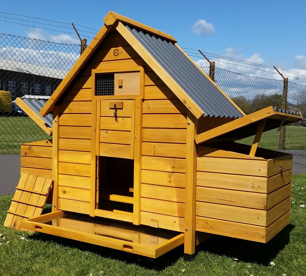 CHICKEN COOP RUN HEN HOUSE POULTRY ARK HOME NEST BOX COOPS