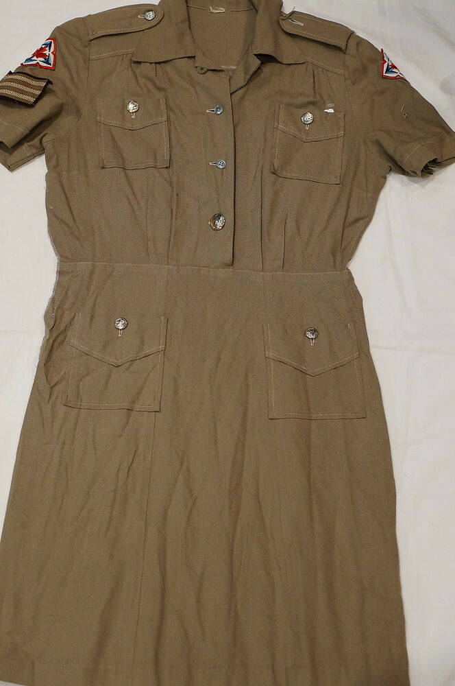 Canadian Womens Army Corps CWAC Sergeant Summer Dress ...