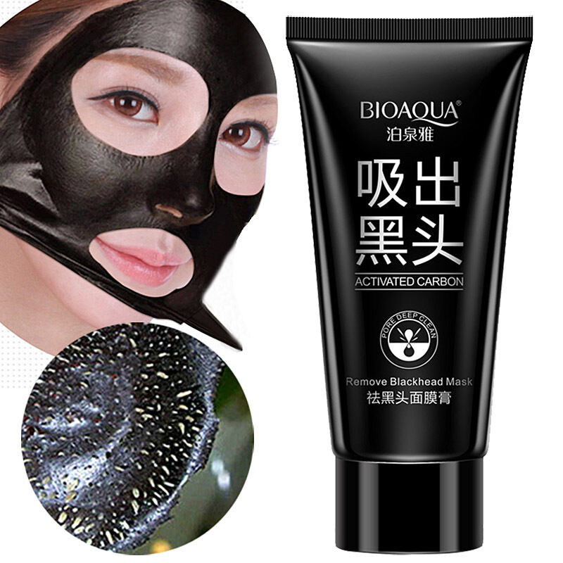 All Natural Charcoal Blackhead Mask Made With 2: Bioaqua Face Skin Care Suction Nose Blackhead Remover Acne