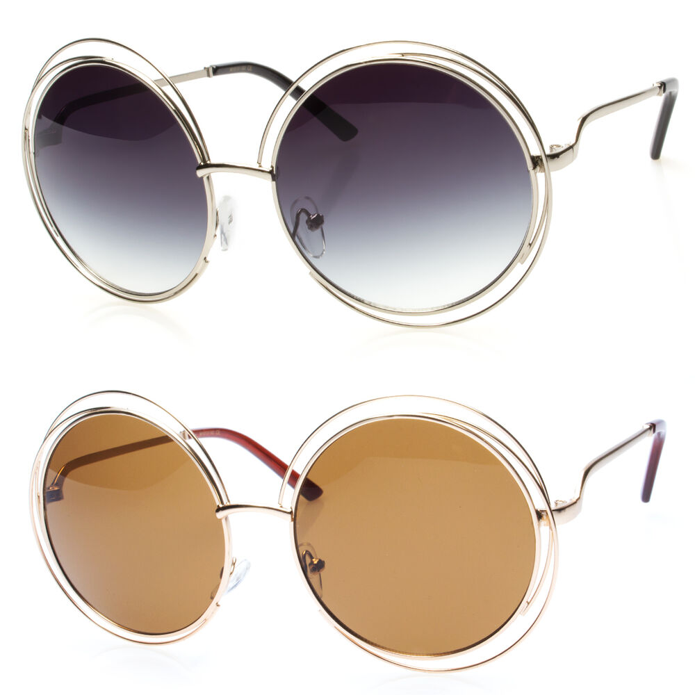 Big Wire Frame Glasses : Big Round Oversized Double Wire Rim Sunglasses Metal Frame ...