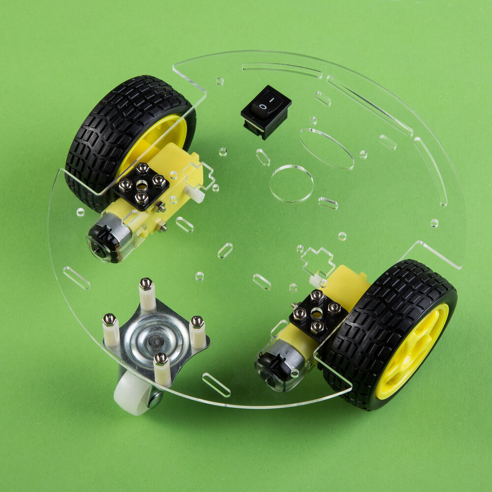 Smart car robot with chassis and kit round arduino
