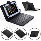Universal Leather USB Keyboard Case Cover Stand For 7