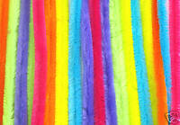 CHUNKY NEON PIPE CLEANERS - 60pk FOR KIDS CRAFTS