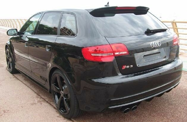 audi a3 8p sportback 5 doors 03 12 rear roof spoiler rs. Black Bedroom Furniture Sets. Home Design Ideas