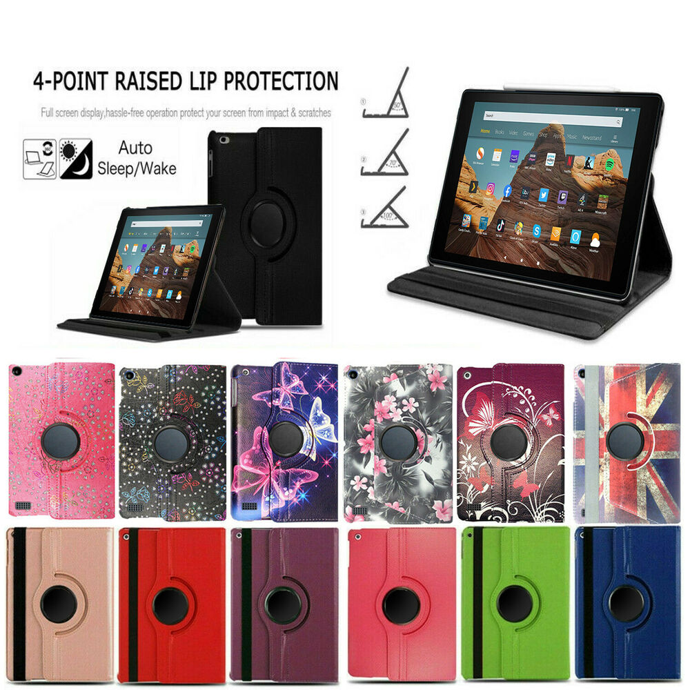 For amazon kindle fire 7 8 8 9 10 tablet folio for Amazon casa