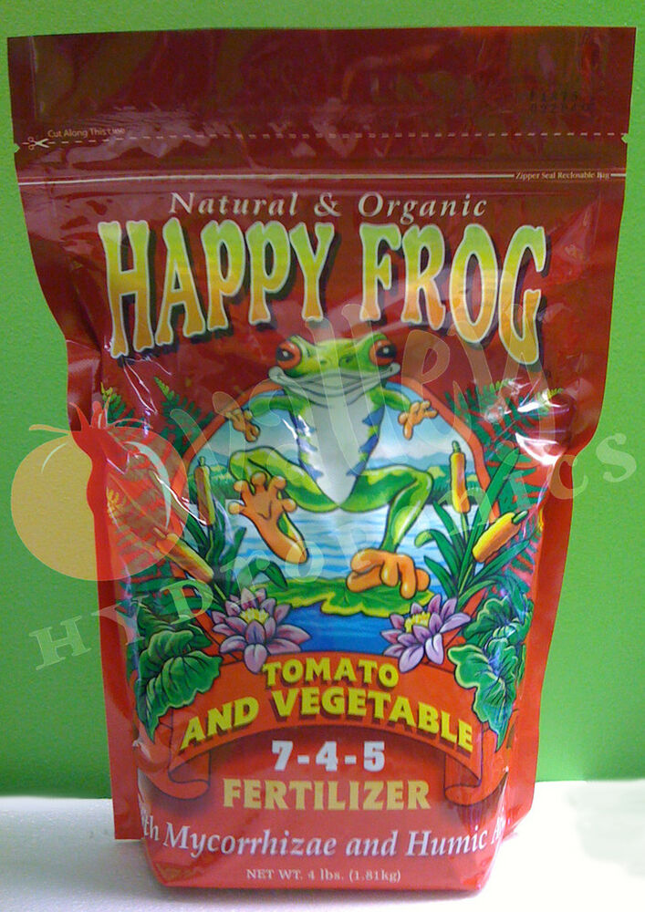 Foxfarm Happy Frog Tomato Vegetable 4 Lbs Natural Organic Fertilizer Fox Farm Ebay
