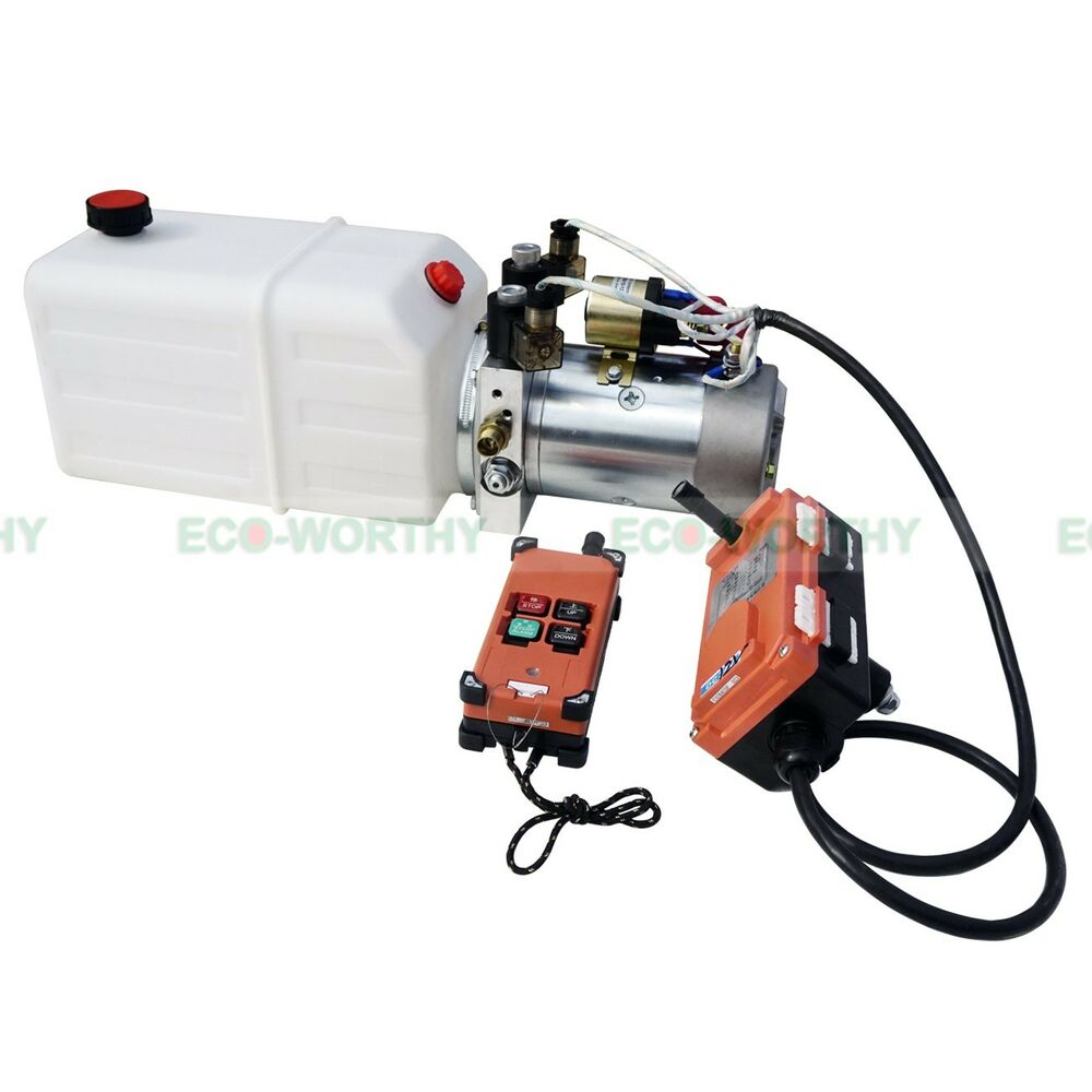 6 quart double acting hydraulic pump 12v dump trailer