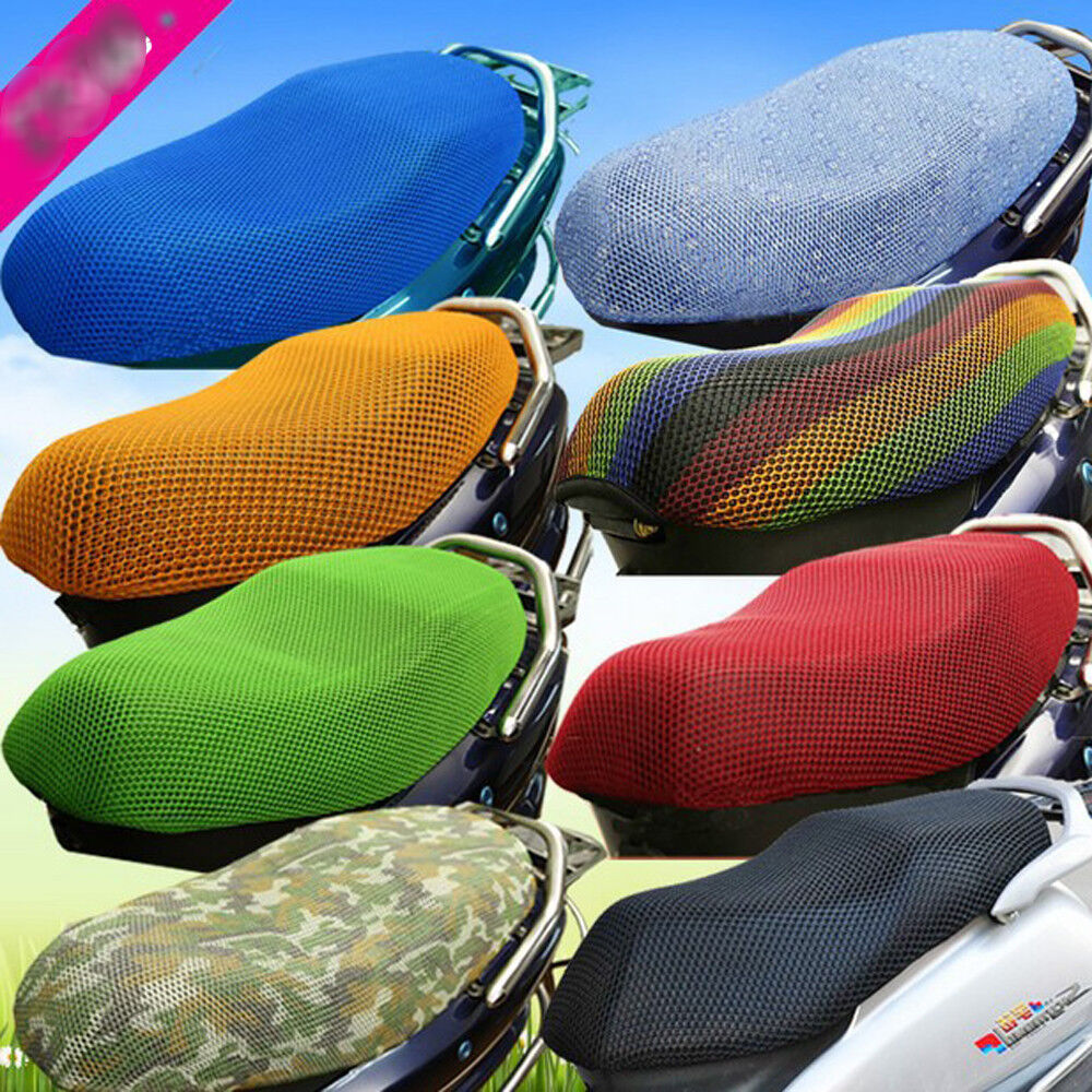 3d motorcycle electric car breathable mesh seat cover scooter gift of pad 1pc ebay. Black Bedroom Furniture Sets. Home Design Ideas