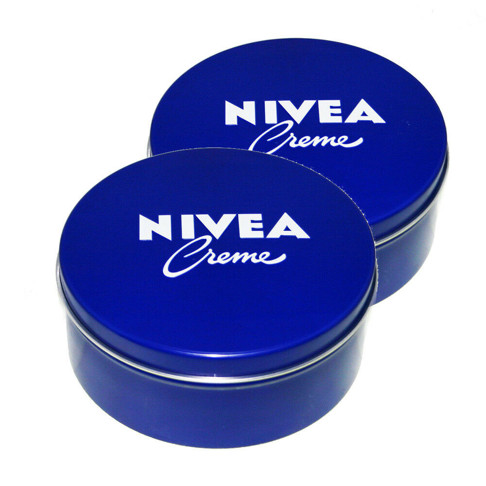 Genuine Authentic German Nivea Cream Metal Tin 13.54oz. / 400ml (2 pack)  | eBay
