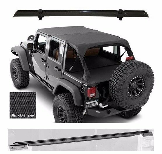 Jeep Unlimited Hardtop Storage: Smittybilt Extended Top, Tonneau Cover, & Hardware 10-17