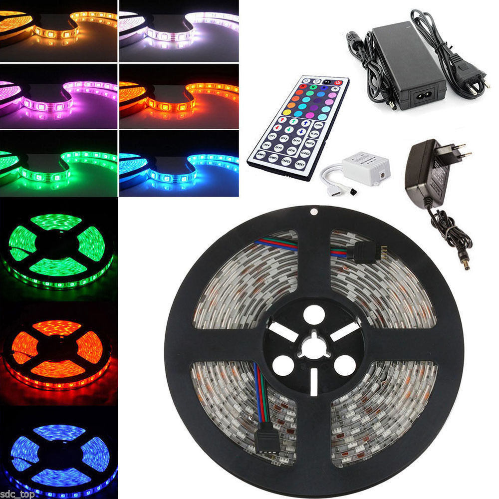 1m 50m led rgb smd 5050 30 60 led m streifen strip band leiste controller trafo ebay. Black Bedroom Furniture Sets. Home Design Ideas