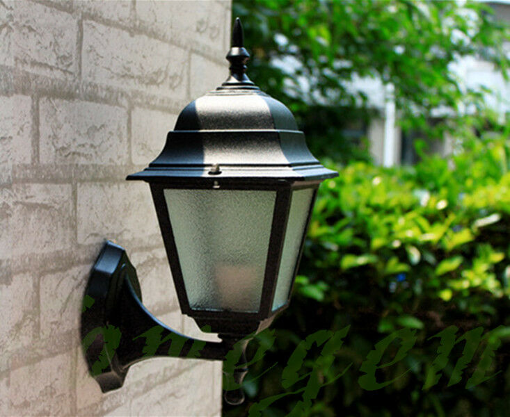 4 Sieded Vintage Exterior Outdoor Wall Lamp Sconce Lantern