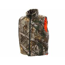 Men's Insulated Reversible Vest Hunting Shooting CAMO REALTREE/MAX BLACK/ORANGE