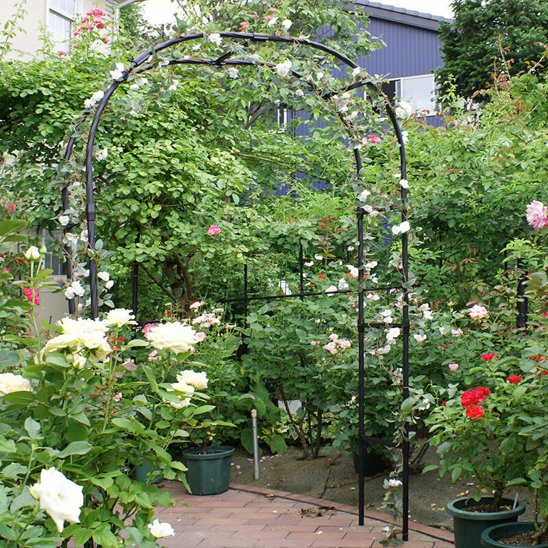 7 9 ft green metal tall arch garden bridal party decoration prom flower wedding ebay. Black Bedroom Furniture Sets. Home Design Ideas