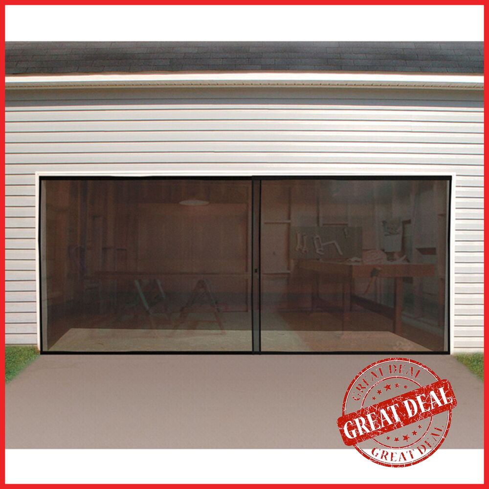 Double garage door screen magnetic closure mosquito net for Double door screen door