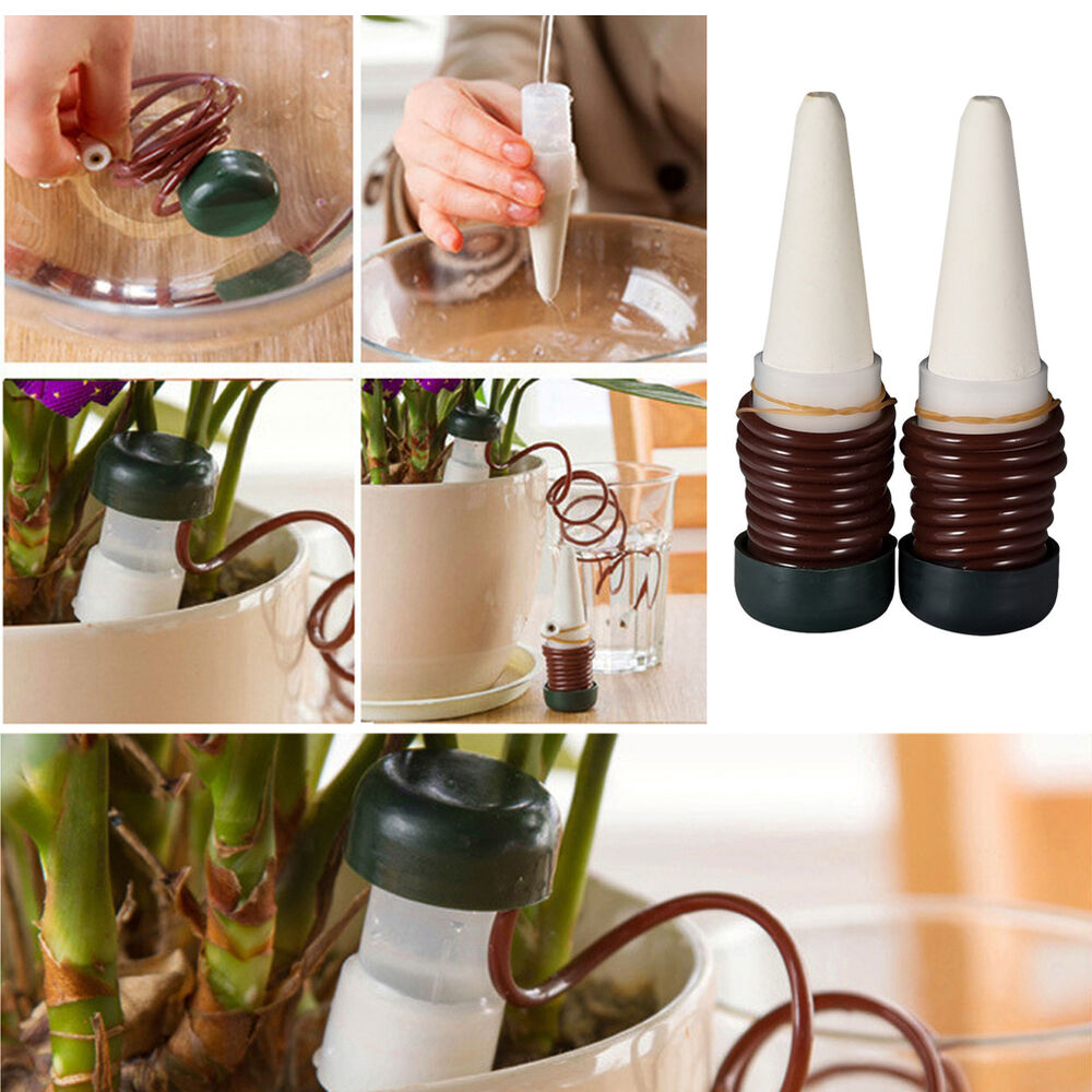 8pcs Drip Automatic Spike Waterer Tender Houseplant Plant