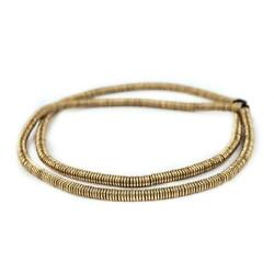 Smooth Extra Large Brass Heishi Beads 6mm Large Hole 16 Inch Strand