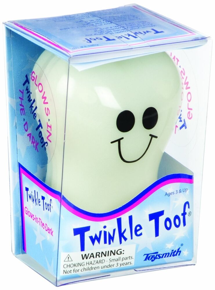 Twinkle Toof Glow In The Dark Tooth Shaped Box Glowing