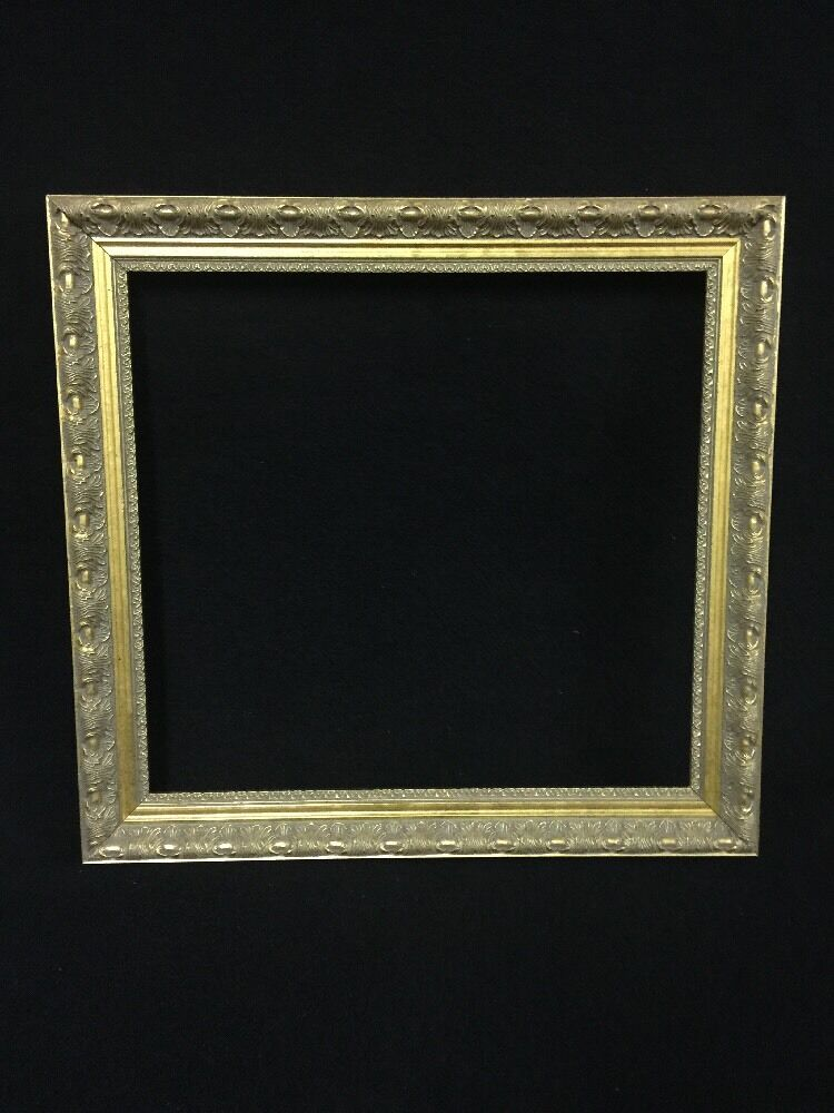 Vintage Gilt Carved Wooden Picture Frame 20 X 20 Ebay