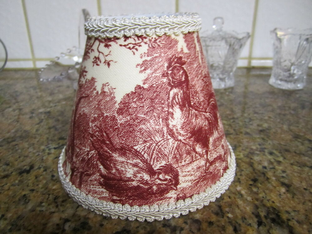 Waverly Red Ivorypetite Ferme Rooster French Country Toile