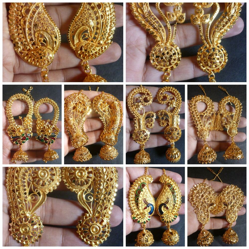 South Indian 22K Gold Plated Full Ear Variations Different ...