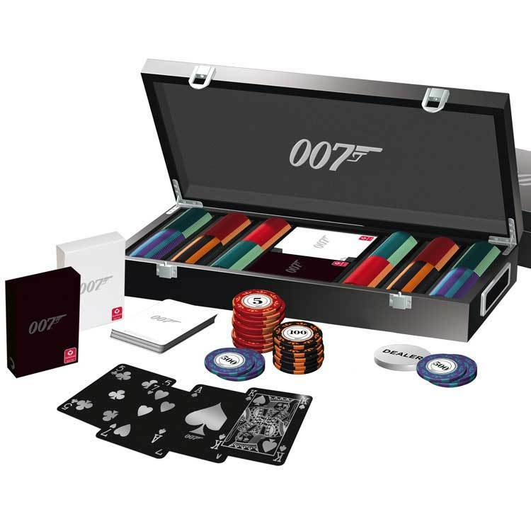 james bond 007 luxus 300 poker chip set von cartamundi officially licensed ebay. Black Bedroom Furniture Sets. Home Design Ideas