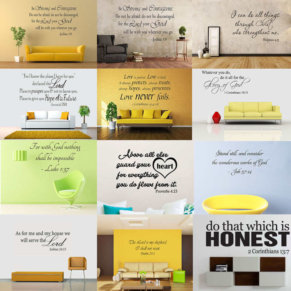bible verse word vinyl removable wall sticker decal quote