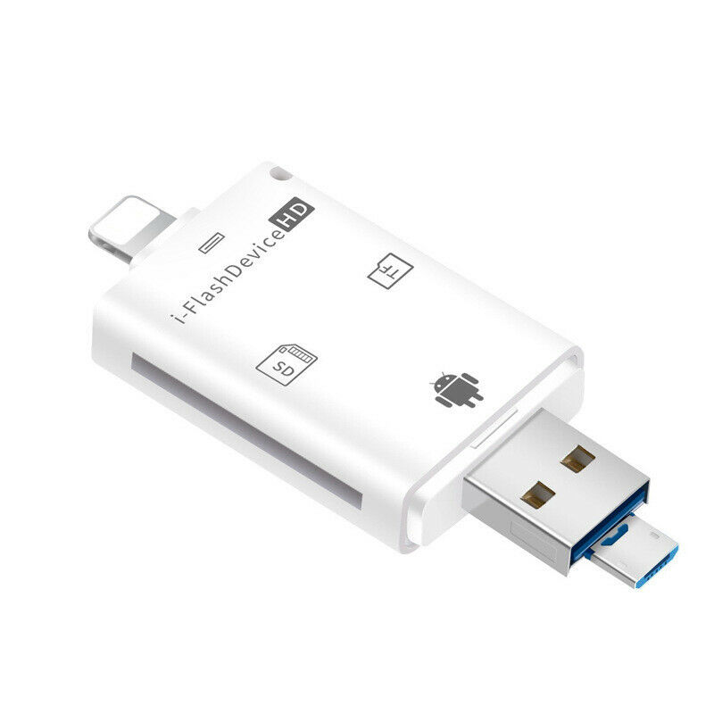 usb flash drive sd tf card reader for iphone 7 6s 6 plus 5s ipad 4 air android ebay. Black Bedroom Furniture Sets. Home Design Ideas