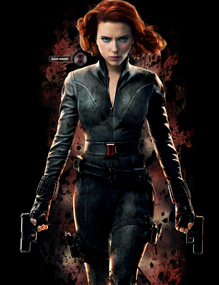Movie POSTER Marvel The Avengers Scarlett Johansson Black ...