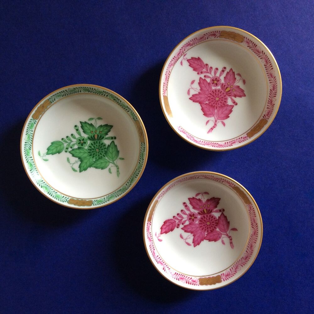 Herend Hungary Porcelain Dishes Small Plates Bowls Hand