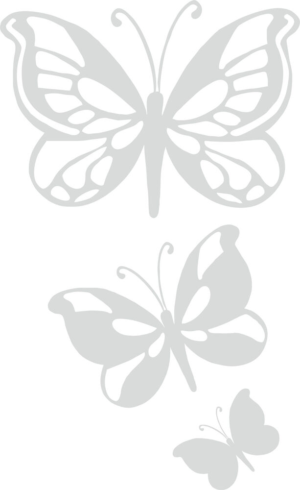 Etched Glass Frosted Vinyl Butterfly Stickers For Shower