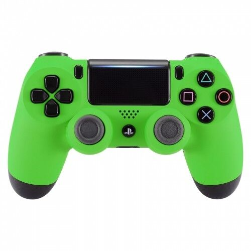 sony playstation dualshock ps4 wireless controller custom soft touch green ebay. Black Bedroom Furniture Sets. Home Design Ideas
