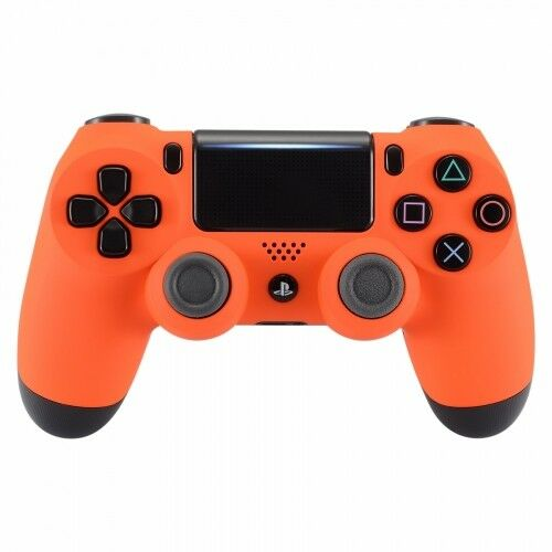 new sony playstation dualshock ps4 wireless controller custom soft touch orange ebay. Black Bedroom Furniture Sets. Home Design Ideas