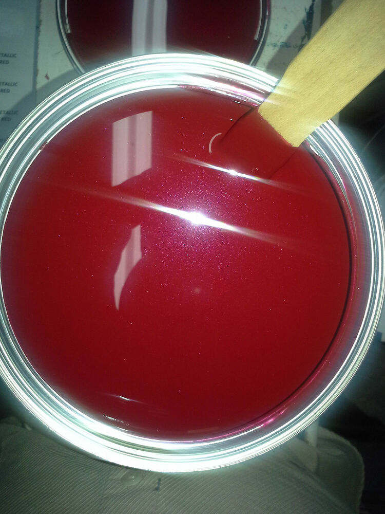 High Gloss Candy Red Met. 1 Quart Kit Single Stage Acrylic