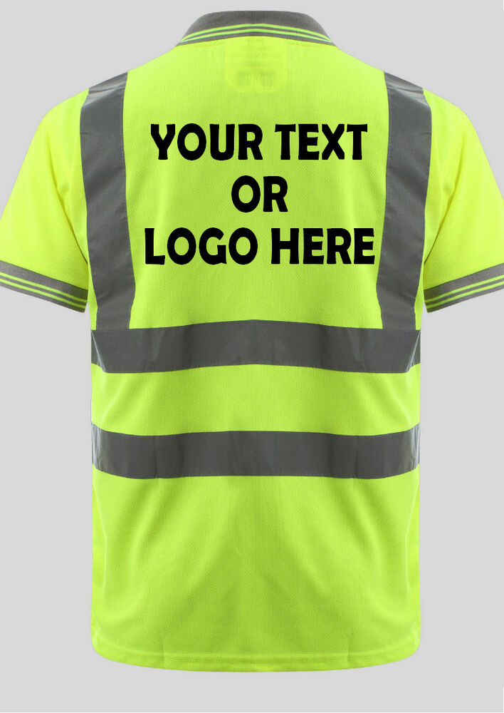 Personalised Hi Viz Polo Shirts Custom Printed Hi Vis Polo