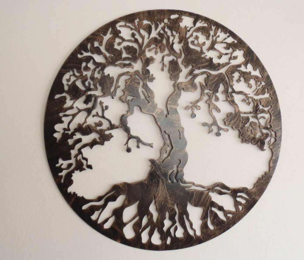 Tree of life metal art 30 wall decor ebay for Tree wall art