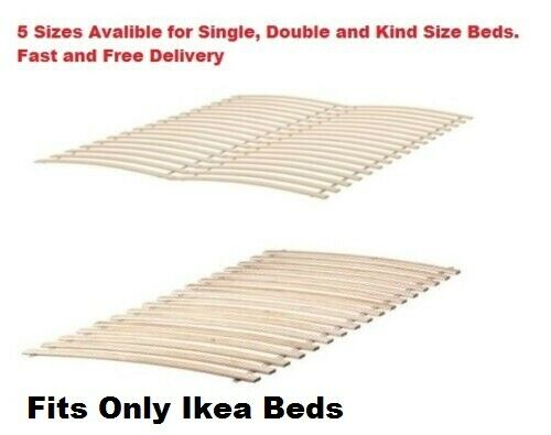 ikea luroy slatted bed base single double king european size bed slatted base ebay. Black Bedroom Furniture Sets. Home Design Ideas