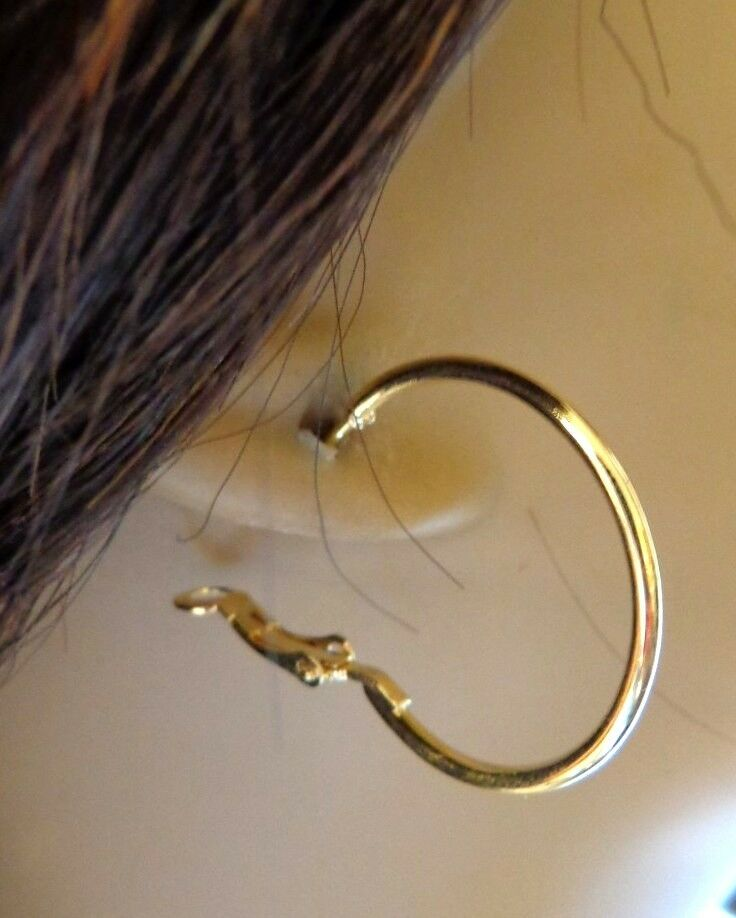 small thin gold hoop earrings small 1 5 inch simple thin hoop earrings gold or silver 3528