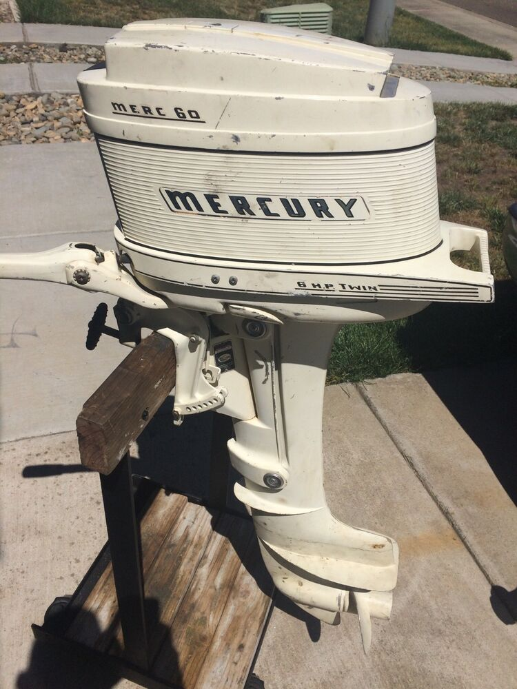 1960 Vintage Mercury 6 Hp Merc 60 Outboard Motor Runs But