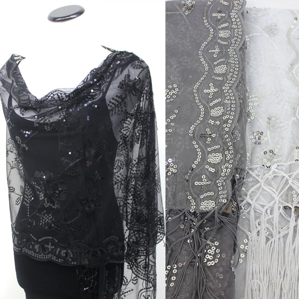 new sequin beaded shawl flower wedding gift evening