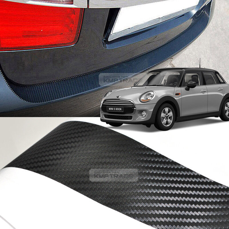 Kia Cadenza 2011 >> Carbon Rear Bumper Protector Decal Sticker Cover for BMW 2006 - 2014 Mini Cooper | eBay
